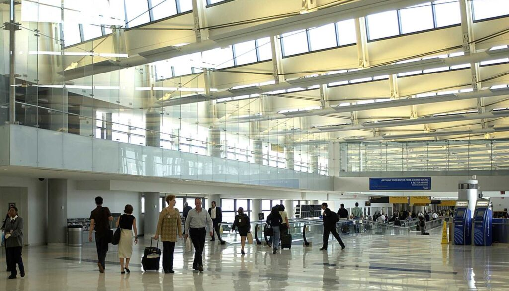 Inside view of the Newark Liberty International Airport